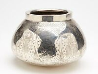 ANTIQUE EGYPTIAN MIDDLE EASTERN FIGURAL SILVER BOWL 19TH C.