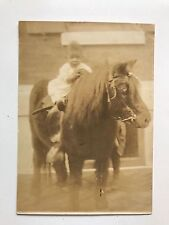 NEGRO BABY SEATED ON A PONY VINTAGE ORIGINAL Street PHOTO