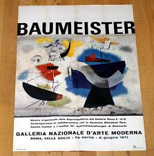 BAUMEISTER poster manifesto affiche Galleria Nazionale d'Arte Moderna Roma B58