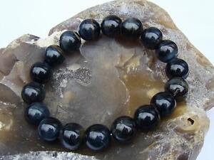 Natural Gemstone Men's Women's ELASTIC beaded bracelet all 12mm Tiger Eye beads