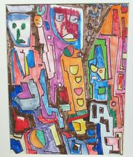 "TRISTAN SCREMIN ""UNTITLED"" ORIGINAL INK AND MARKER PAINTING"