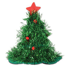 NEW TINSEL CHRISTMAS TREE HAT Party Supplies