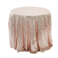 Glitter Sequin Round Table Cloth Cover Rose Gold Silver Wedding Banquet Party UK