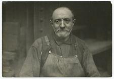 Lewis HINE: English Ironworker, Pittsburgh, c. 1908 / VINTAGE / STAMPED / LH008