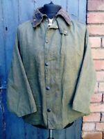 Mens Barbour Beaufort Olive Green Shorten Wax Jacket Coat Size C40/102CM Medium