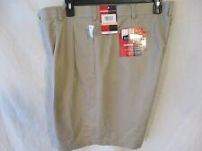 Grand Slam Polyester 40 W Khaki Solid Performance Golf Shorts Sr$42 New