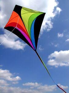 fliegt prima Einleiner Drachen Eddy XL rainbow