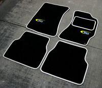 Noir/Argent SUPER VELOURS Tapis De Sol Voiture pour Subaru Impreza 01-06 + WR1
