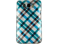 Snap On Plastic Design Phone Case Blue Plaid For T-Mobile HTC HD2