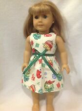 """Fit 18"""" American Girl doll Christmas Shopkins Tree Santa dress clothes outfit"""