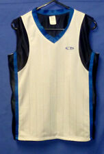"Reversible Basketball Training Singlet Jersey White Navy Blue 32"" Size 12 Girls"