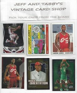 LEBRON JAME CARDS FLEER, TOPPS, HOOPS, & UPPER DECK YOU PICK FROM SCANS