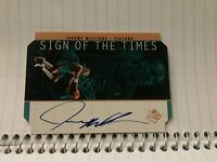1998 UPPER DECK SP AUTHENTIC JEROME WILLIAMS  CARD AUTOGRAPHED PISTIONS