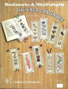BOOKMARKS & MINI-PULLS lll  THE SAGA CONTINUES - CROSS STITCH BOOKMARK LEAFLET