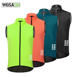Cycling Vest Windproof Running MTB Bike Bicycle Reflective Sleeveless Jersey