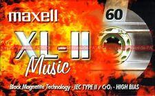 Cassette K7 MAXELL C60 XL-II ( XLii XLII XL2 XL-ii ) Type 2 CrO2 High Bias NEUVE