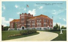 Huron S D~Drive by Flowers, Hedges to Voorhees Hall~Huron College~1920s Postcard