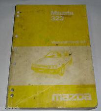 Werkstatthandbuch Grundhandbuch Mazda 323 Typ BF Motor Getriebe Bremsen, 08/1985