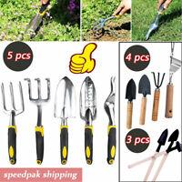 5X Garden Hand Fork Trowel Gardening Planting Digging Stainless Steel Tool Set