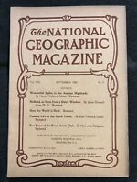1908-09 SEPTEMBER NATIONAL GEOGRAPHIC: ANDES PERU-HOLLAND-GERMANY-PEARY ARCTIC
