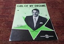 Girl of my dreams Perry Como piano/vocal/guitar sheet music EX