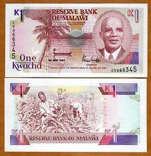 Malawi, 1 Kwacha, 1992, Pick 23 (23b), UNC