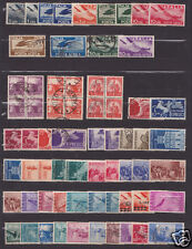 Italy Repubblica used  stamp collection 1945/56 almost complete cv$+1500