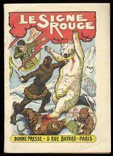 █ PUJO Alice LE SIGNE ROUGE Maison de la Bonne Presse Paris 1924 JEUNESSE █