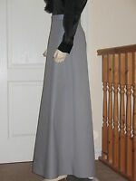 Ladies Victorian/Edwardian style 'A' line skirt/renactment/fancy dress (Grey)