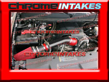 """BLACK 07-08 CHEVY AVALANCHE/SUBURBAN/TAHOE/ESCALADE COLD AIR INTAKE KIT 4"""" RED"""