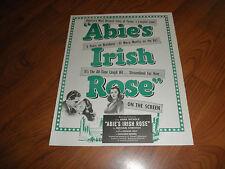 ABIE'S IRISH ROSE-1947-Original Promo AD