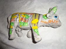 """Bull Market Investment Cow Parade 9"""" Plush Soft Toy Stuffed Animal"""