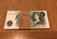 Uncirculated 1967-1970's BANK ENGLAND ONE POUND £1 GENUINE NOTE from Consecutive