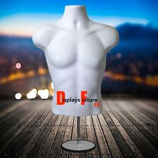 Mannequin For Jewelry Or Clothing Displays Male Form Amp Stand Hook White