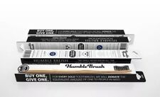 Humble Brush Eco Friendly Bamboo Adult Toothbrush Soft (Black) 4 PACK