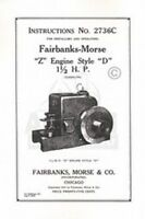 Fairbanks Morse Z D 1 1/2 HP Hit & Miss Engine Manual