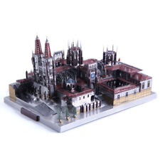 MicroWorld Spain Burgos Cathedral 3d Metal Puzzle DIY Assemble Model Kits Toy