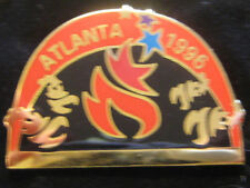 Atlanta 1996 Olympic Games Pin - Red &Black Arch Shaped Torch Logo