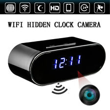 Wireless WiFi 1080P HD Spy Hidden Alarm Clock Camera IR Motion Security Cam DVR