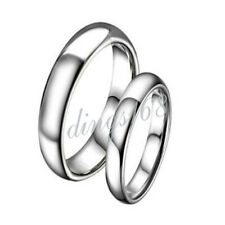 One Piece of 925 Sterling Silver Hypo-Allergenic 4mm Wedding Band Ring Z046