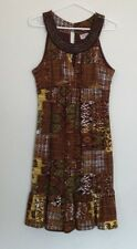 Summer Dress Tribal Print R & K Originals with Beaded Neck Size 10 Scoop neck