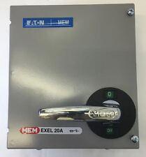 MEM Eaton Memshield EXEL Switch Disonnector Fuse 16 20 Amp TPN HRC Fuses Fitted