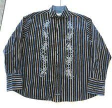 CHRISTOPHER WICKS Independence Striped Men's XXL Long Sleeve Dragon Shirt (g)