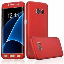 Full Case Samsung Galaxy S7 Edge Schutz Hülle Handy Cover Displayfolie Rot Neu
