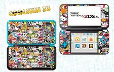 SKIN DECAL STICKER - NINTENDO NEW 2DS XL - REF 191 STICKER BOMB