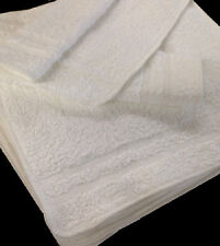 1 dozen white cotton blend premium grade 12''x12'&# 039; washcloths hotel grade