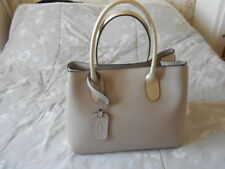 MAGNIFIQUE SAC CUIR BEIGE ET DORE GENUINE LEATHER MADE in ITALY - NEUF - 11676f80029