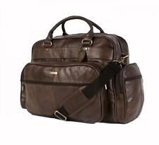 MENS LADIES WOMENS LEATHER HOLDALL TRAVEL GYM SPORTS FLIGHT BAG CABIN BAG BROWN