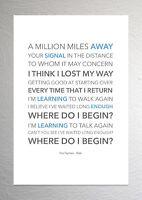Foo Fighters - Walk - Colour Print Poster Art