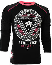 AMERICAN FIGHTER Mens LS T-Shirt CHARLESTON PATTERN Biker Gym MMA  $54 NWT